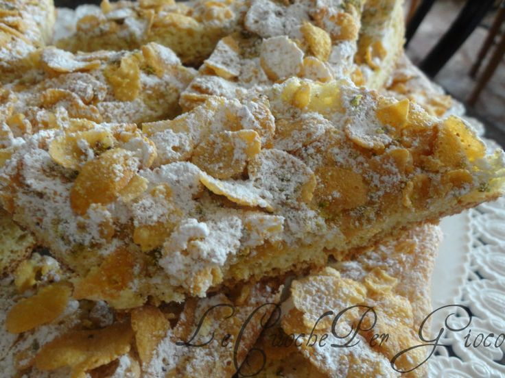Biscotti cornflakes e pistacchi