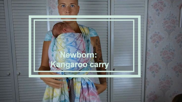 Babywearing basics (newborn) - kangaroo carry
