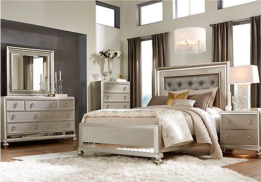 picture of Sofia Vergara Paris 5 Pc Queen Bedroom  from Queen Bedroom Sets Furniture