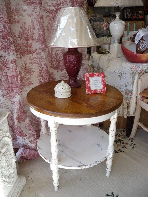 2 Tier Side Table Painted Furniture Home by VintageAppleTreasure