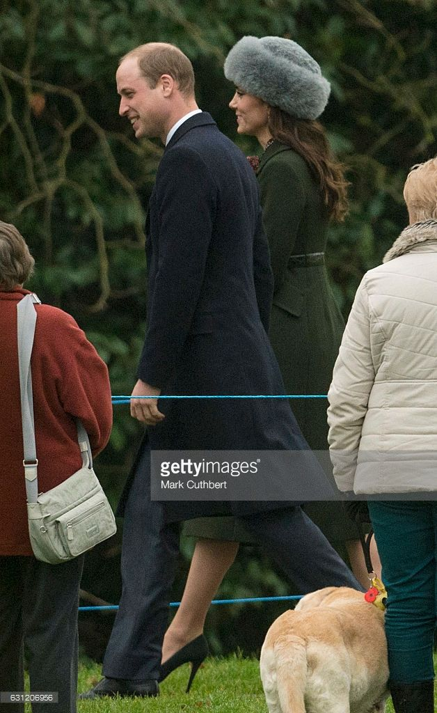 Prince William, Duke of Cambridge and Catherine, Duchess of Cambridge attend St Mary Magdalene Church at Sandringham on January 8, 2017 in King's Lynn, England.