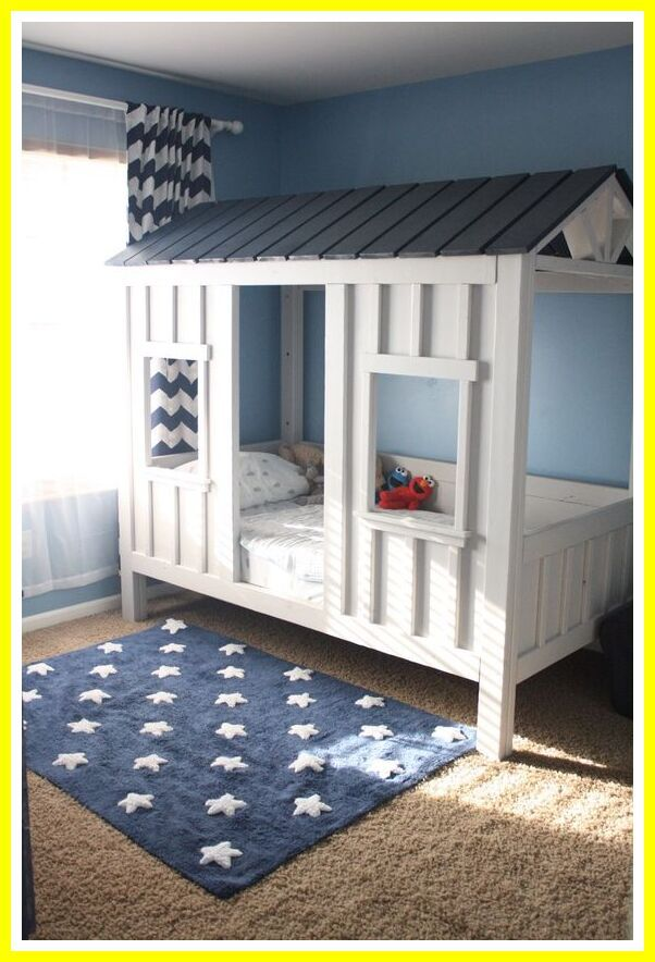 61 Reference Of Boys Room Bunk Beds For In 2020 Diy Toddler Bed Diy Cabin Bed Children Room Boy