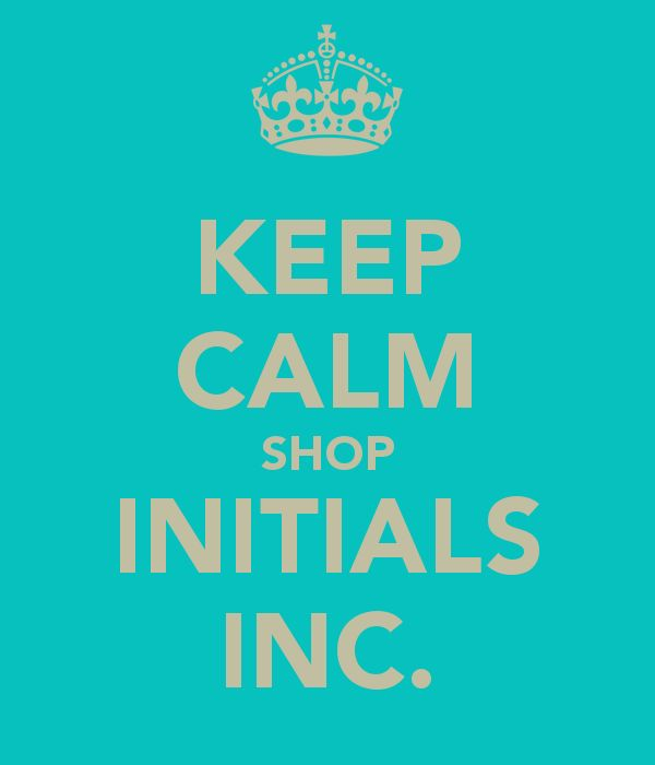KEEP CALM SHOP INITIALS INC. www.myinitials-inc.com/miki