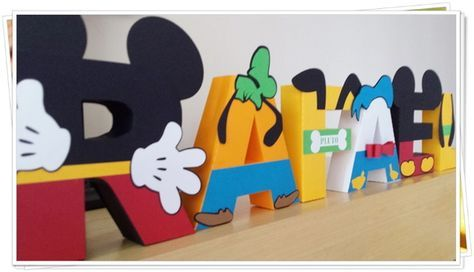 Letras 3d - Casa do Mickey