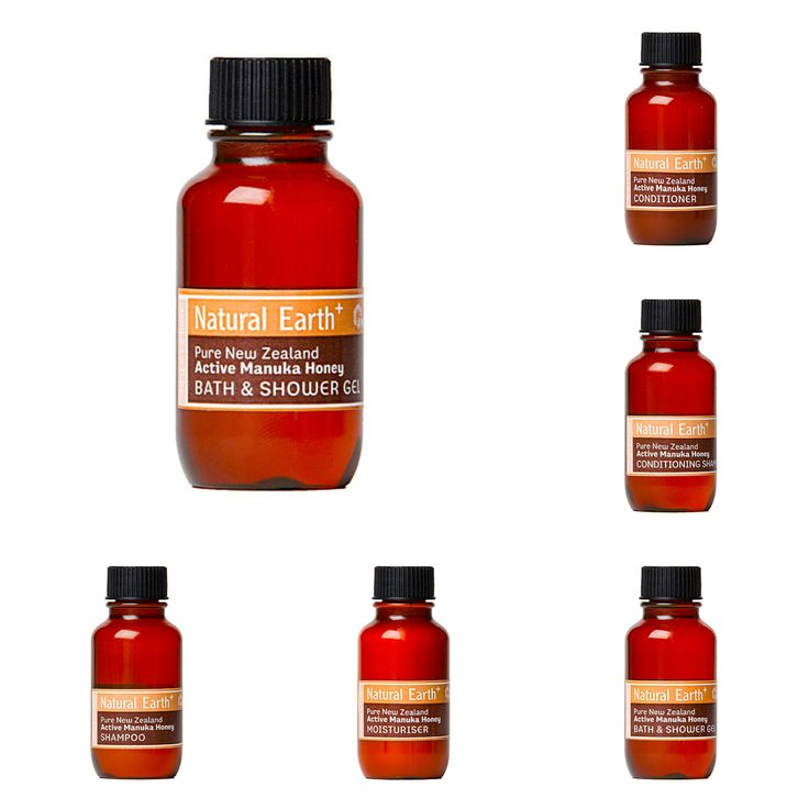 Natural Earth Manuka Honey Hair & Body Care in 35ml bottles. http://www.themotelshop.co.nz/collections/natural-earth-active-manuka-honey-hair-body-care