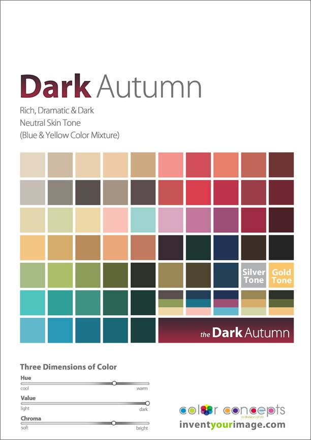 Colors for a Dark Autumn Male www.inventyourimage.com Copyright © 2011 No part of these materials may be reproduced, distributed or transmitted in any form or by any means unless prior written permission is given by Lisa K. Ford- CEO and Founder of Invent Your Image, LLC