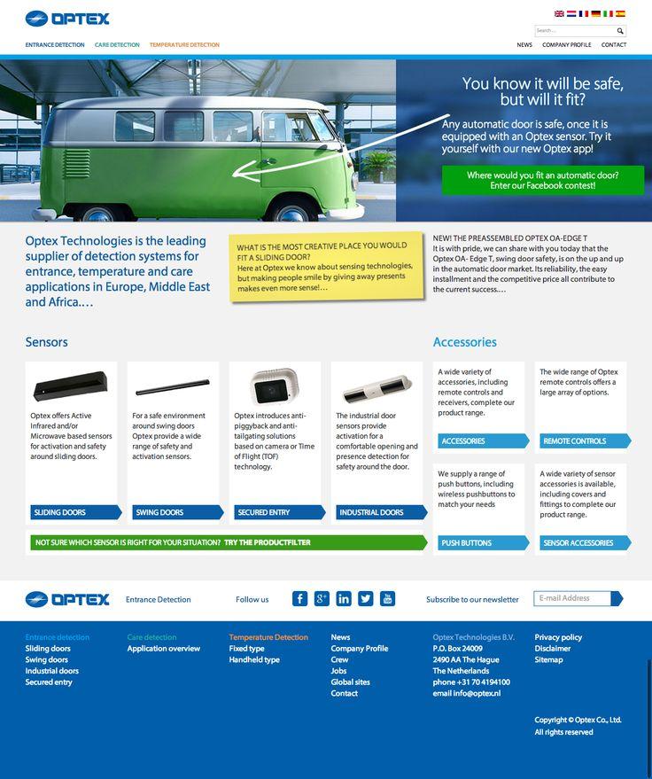 Website redesign voor Optex. www.optex.nl