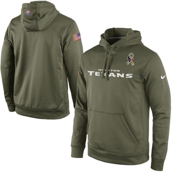 1690998d0 ... Nike Houston Texans Salute to Service KO Pullover Performance Hoodie -  Olive ...