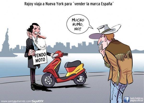 Rajoy viaja a Nueva York para vender la marca España.