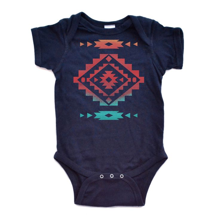 Cool Native American Aztec Southwest Indian Style Print Baby Bodysuit Great Gift Idea Newborn Baby Infant Bodysuits Navy or White by apericots on Etsy https://www.etsy.com/listing/185132005/cool-native-american-aztec-southwest