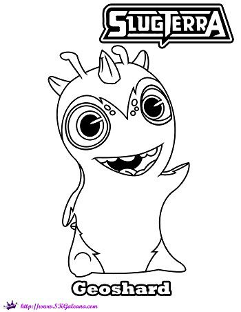 slugterra geoshard printable coloring page and wallpaper