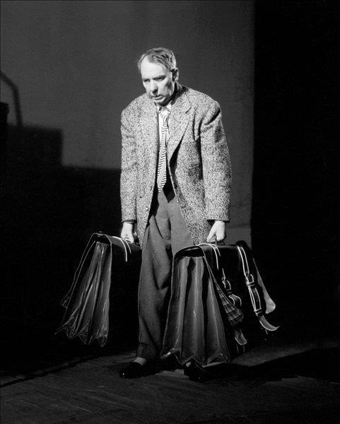 Fotó: Keleti Éva: Timár József színművész a Nemzeti Színházban, 1959 Az ügynök halála