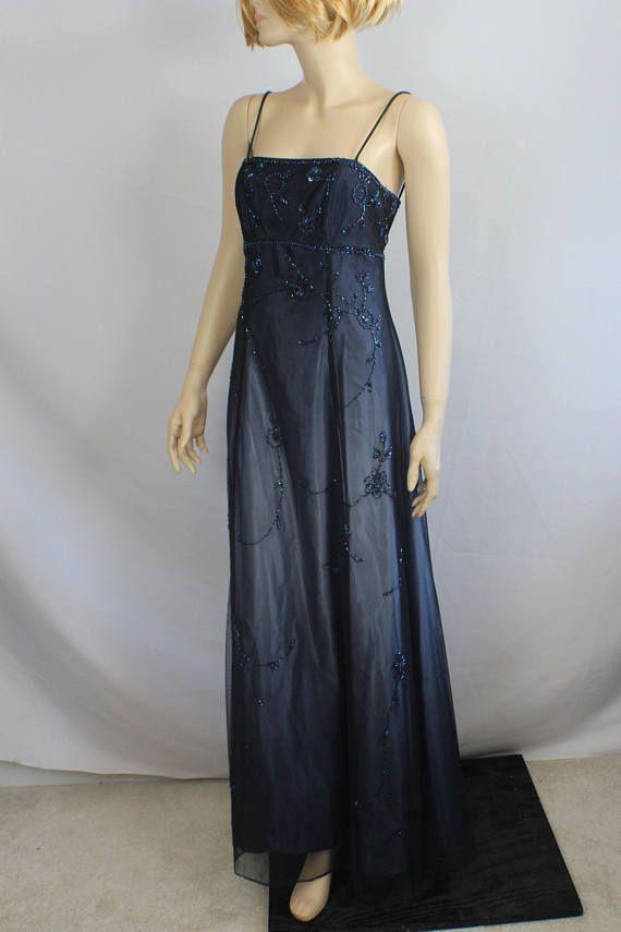 873f518039e 90s prom dress formal purple black dress vintage 1980s ball
