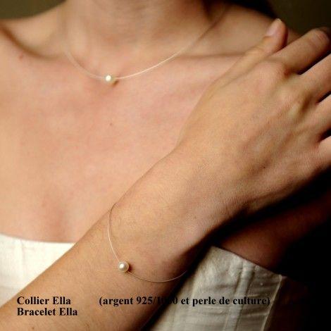Collier mariage une seule perle de culture ELLA, un essentiel !
