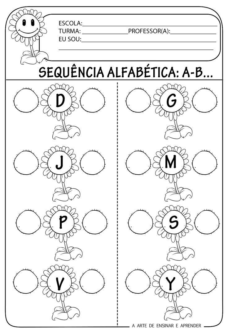A Arte de Ensinar e Aprender: Atividades prontas - Sequência alfabética