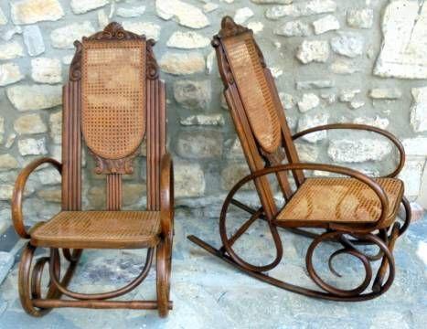 rocking chairs cann s bois courb vintage style art deco pinterest le vieux cannes et bois. Black Bedroom Furniture Sets. Home Design Ideas