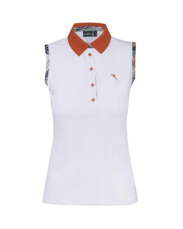 Polo de golf Chervo Admir para mujeres. Fabricado con tejidos de la mejor calidad, 92% Polyamida y 8% Elastano.