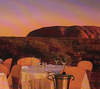 Ayers Rock, Sounds of Silence dinner beginning with watching the sunset behind Ayers Rock...unforgettable!