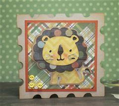 Lion card: Ain T Lion, Cards Lion, Cricut Cards, Cards Ideas, Cards Scrapbook Ideas, Lion Cards, Cards Creations, Cards Papercraft, Animal Cards