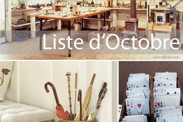 liste ménage octobre