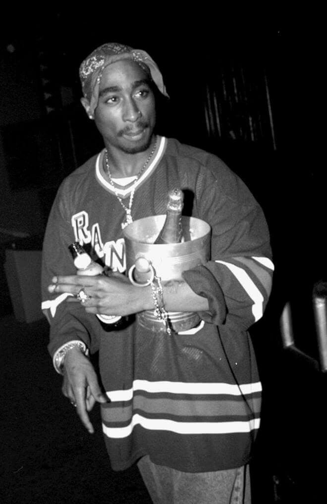 """23 years ago today 2pac attended the """"Fashion Week"""" finale party at Club Expo. Photo: New York Daily News Archive. 2pac lives in my heart"""