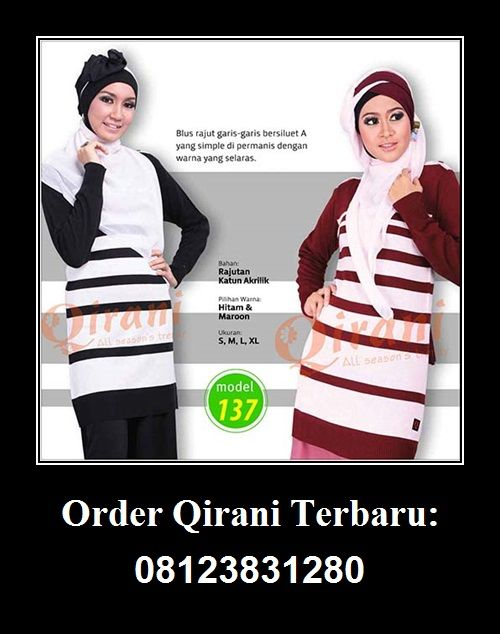 Qirani Blouse Model 137, Hubungi : HUBUNGI :  Whatsapp : +62 812-3831-280  SMS : +62 812-3831-280 BBM : 5F03DE1D