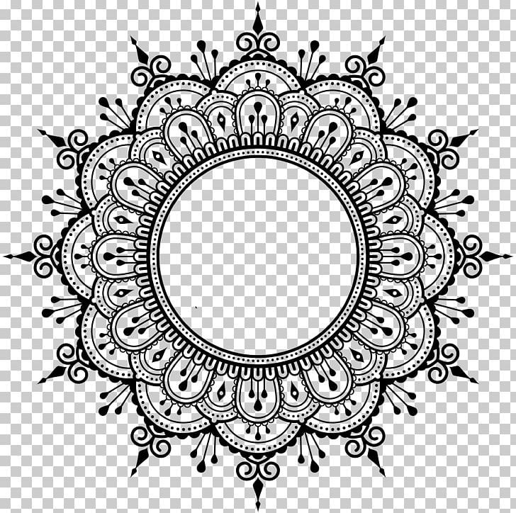 Mehndi Henna Mandala Png Area Art Black And White Buddhism Buddhist Symbolism Henna Mandala Design Mandala Design Pattern Henna Mandala