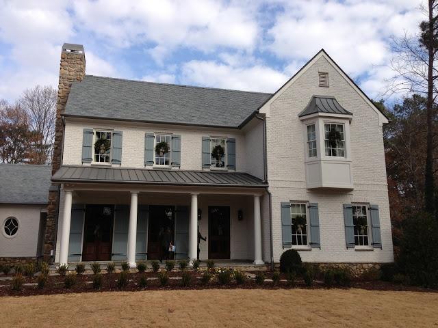 Atlanta Homes Exterior Color Ideas Painted Brick