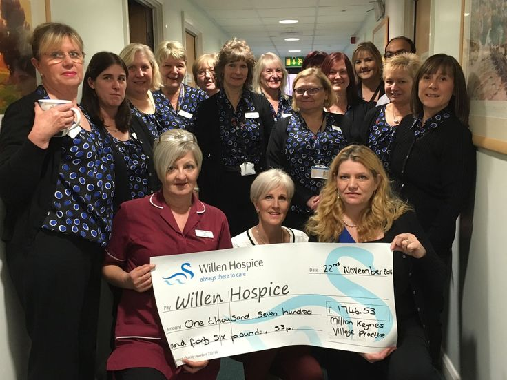 Lovely warm THANK YOU to MK Villange Practice who took on our Time for Tea initiative back in October 2016. They raised a fantastic £1746.53 to support our care at Willen Hospice! #CommunitySupport