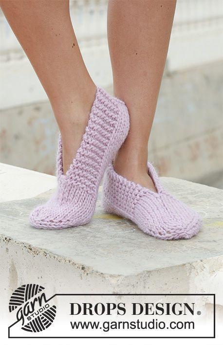 Pantofole a maglia DROPS in Eskimo