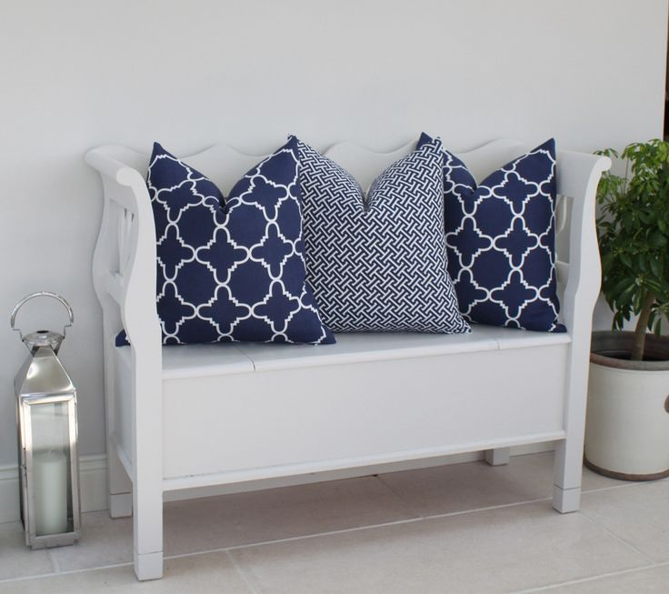 Fitzgerald and Hanover Linen Pillows in French Navy