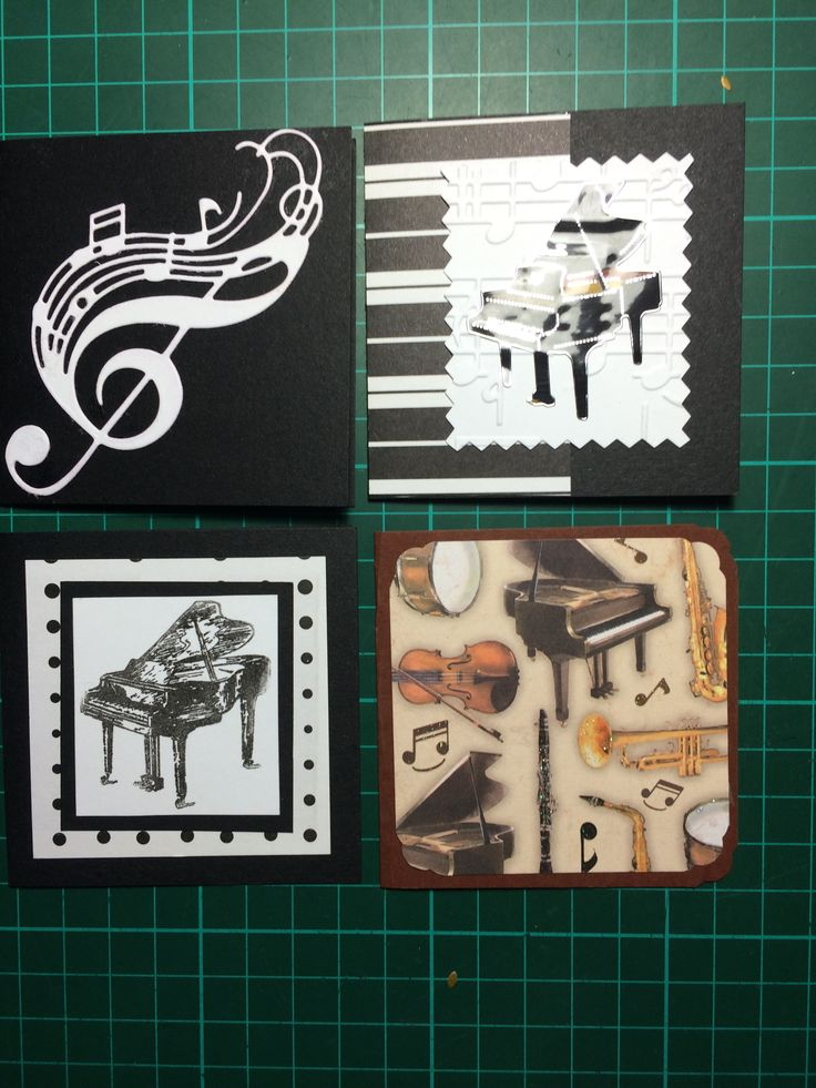 Music gift card set of 4