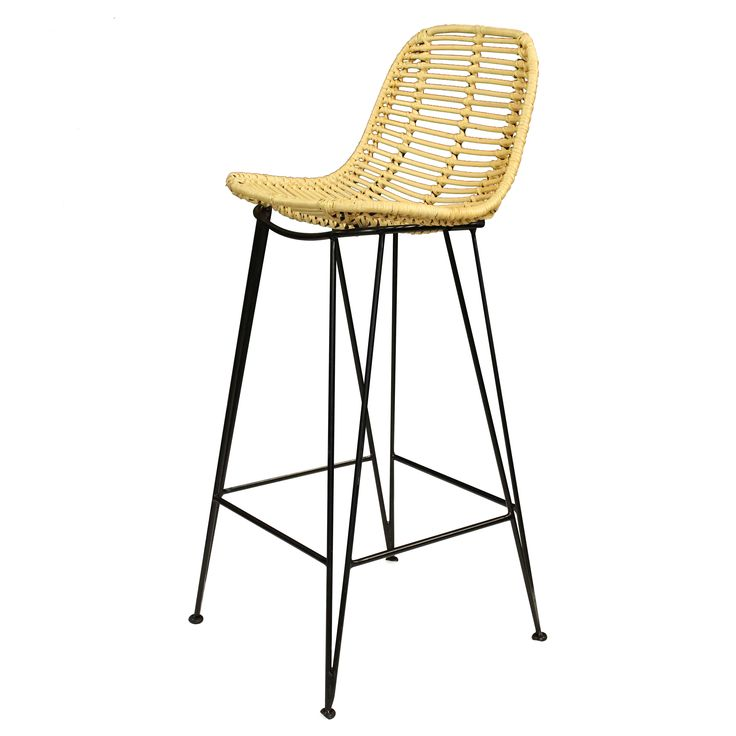 Unique and warm, these August bar stools are inspired by the casual styles of summer beach houses. Each eco-friendly rattan seat features a smooth, curved construction that will cradle your body.