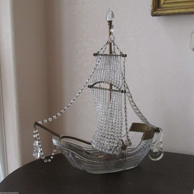 Antique French Figural Lamp Beaded SHIP Galleon Boat Crystal Table  Chandelier | eBay - 16 Best Foyer Images On Pinterest Light Fixtures, Art Deco