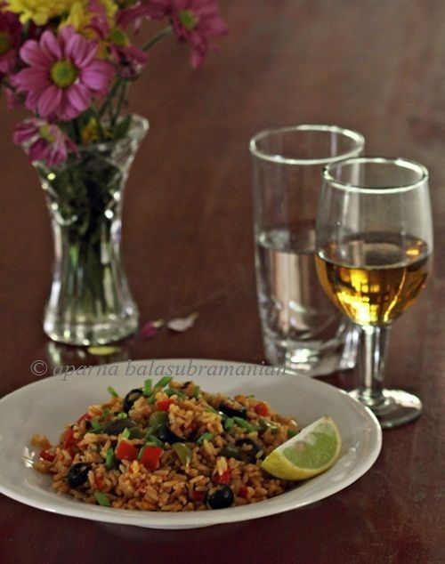 My Diverse Kitchen: Vegetable Paella (Spanish Saffron Flavoured Tomato Rice)