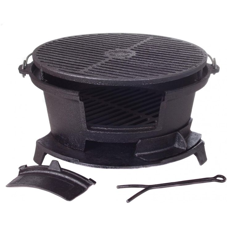 Cajun Classic Round Seasoned Cast Iron Charcoal Hibachi Grill - GL10447 available at BBQ Guys. The Cajun Classic hibachi grill will allow...