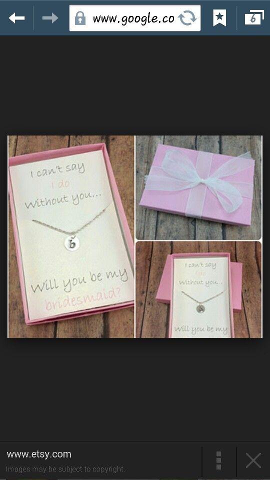 Will You Be My Bridesmaid Gift Bridesmaid