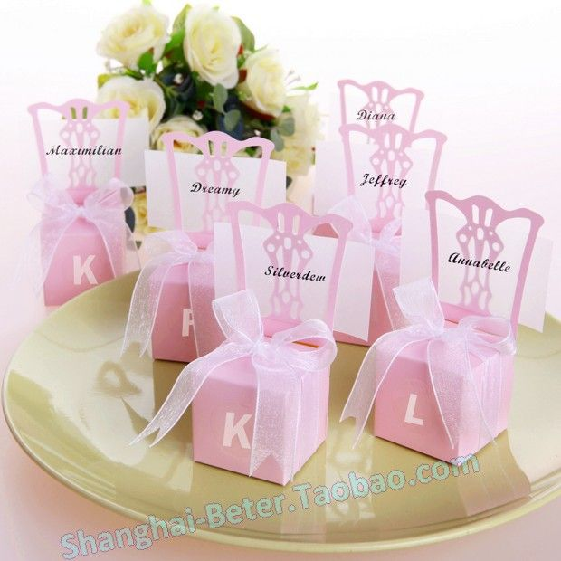 miniature chair place card holder and favor box find this pin and more on taobao wedding