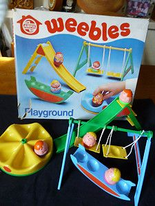 Weebles I got this when I was sick in the hospital. None of my brothers and sisters could play with it. It was all mine. lol