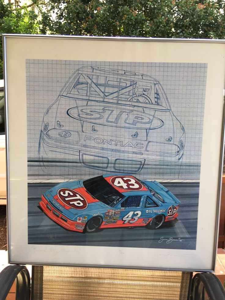 """Sam Bass Signed and Numbered Print """"Richard Petty Blueprint"""""""