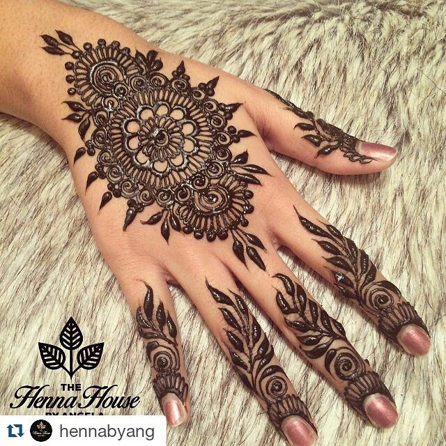#Repost @hennabyang with @repostapp ・・・ Another quick bridal consult. Always important to test out your artists henna paste before the big commitment.  I've seen FAR too many beautiful brides with horrendous henna stains. So unfortunate. My followers probably have noticed my favourite finger design is vines. It's fast, thick, will stain dark, and provides quite a bit of coverage. And. It's. So. Darn. Beautiful.