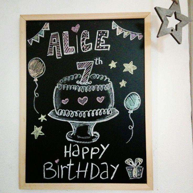 chalkboard, lavagna artistica, lavagna, chalkboard happy birthday