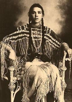 Kiowa Girl, Indian Portrait by Edward Curtis.