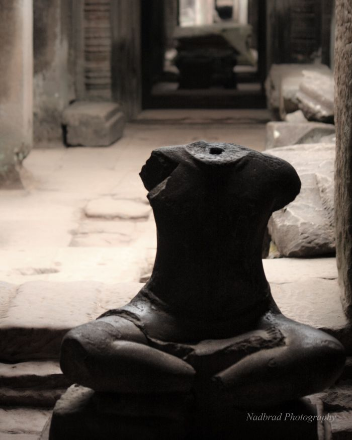 Stolen Statue in Angkor Wat Cambodia by Nadbrad Photography at www.nadbrad.com