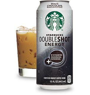 My favorite - Starbucks Doubleshot® Energy White Chocolate Drink