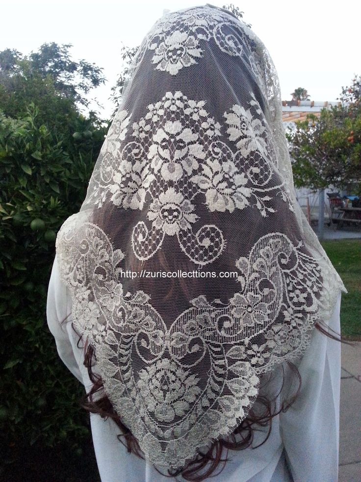 Spanish Mantilla / Chalina Espanola  Color BEIGE  Design Lace by Leavers buy it at http://zuriscollections.com