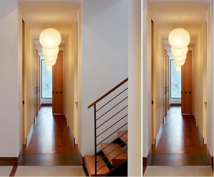 Long hallway lighting idea