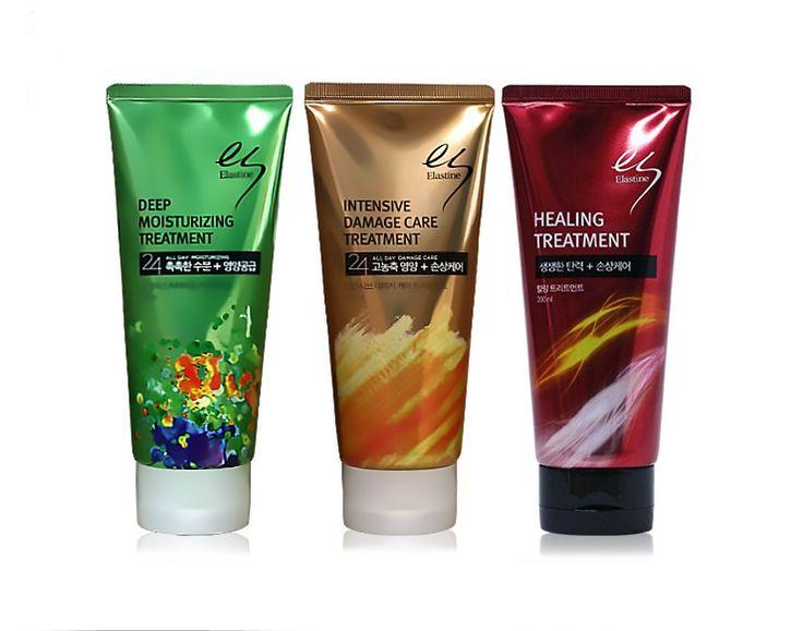 Korean Elastine Hair Treatment Series 200ml x 3pcs Set, Damaged Hair Care #Elastine