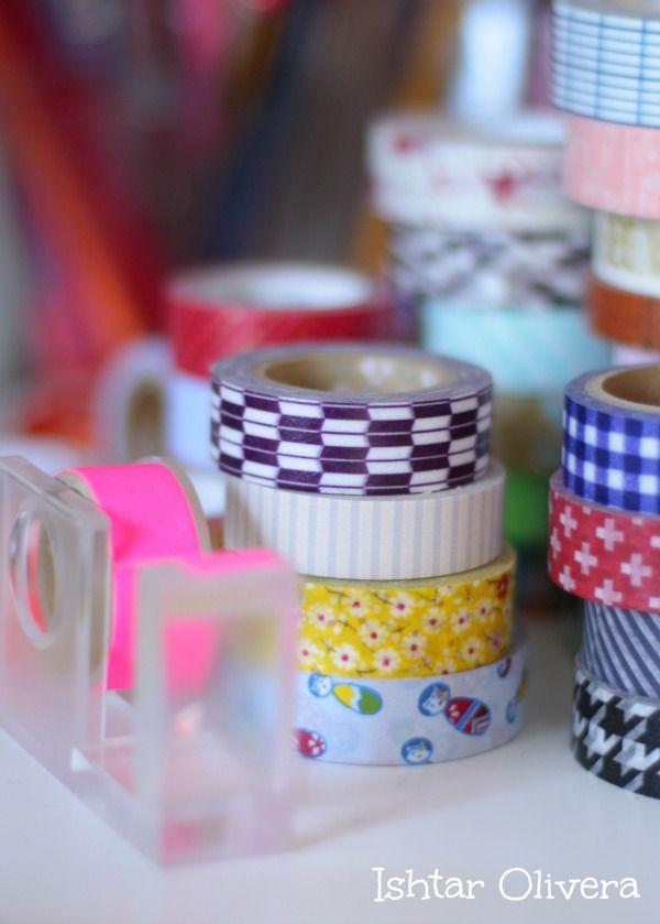 Washi tape on my desk