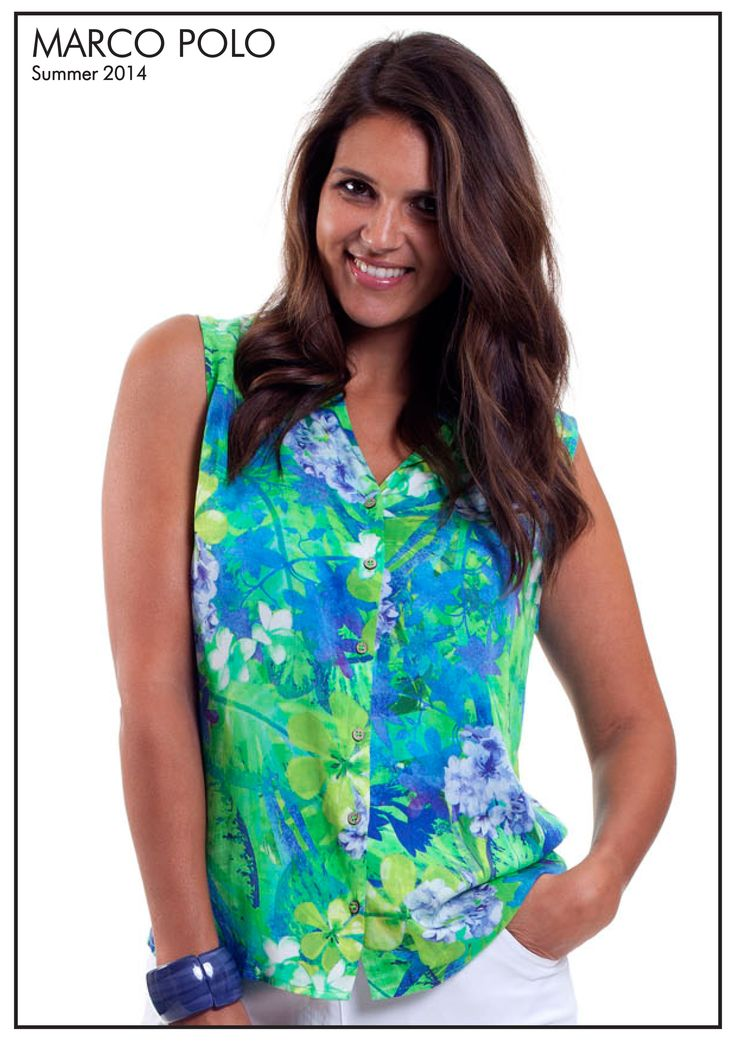 Add a tropical twist to your look with our Sleeveless Tropical Print Shirt. Pair back with block coloured bottoms or denim for a casual look. Please call 03 9902 5100 to locate your nearest stockist (Style Number: 14S444106M)